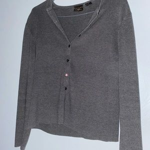Grey T A I L O R cardigan sweater